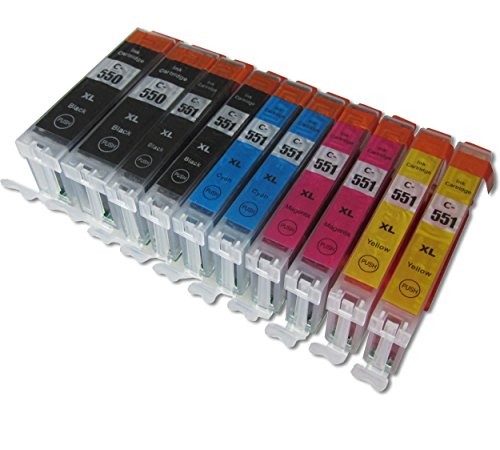ESMOnline 10 komp. Druckerpatronen als Ersatz für Canon PGI-550 XL CLI- 551 XL