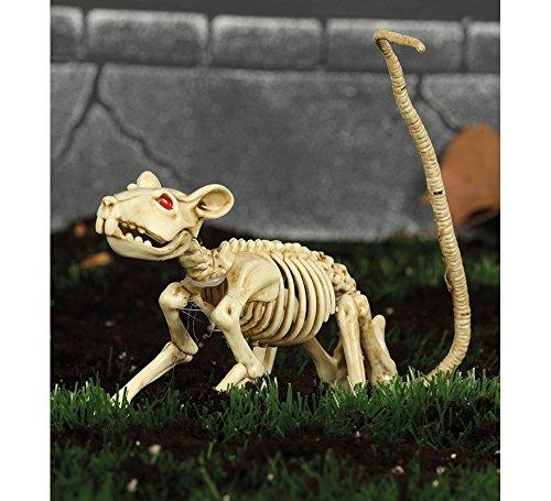 Guirca Ratten Skelett Ratte Knochen Halloween Horror Dekoration Blut Party Deko Karneval Fasching -