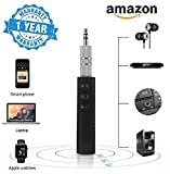 #10: BitGear Universal 3.5mm Jack Bluetooth V4.1 Hands Free Music Audio Receiver Adapter AUX Kit Compatible with All Android and iOS Devices {Assorted Colour}