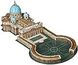 Playtastic Gebäude Puzzle: Faszinierendes 3D-Puzzle Petersdom mit Petersplatz in Rom, 56 Teile