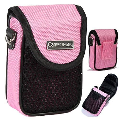 LUPO Kompakter Kameratasche - Universal Weiche Tasche Beutel, Gurt, Gürtelclip, Stoßfest mit Tasche (Point And Shoot-kamera Mit Gurt)