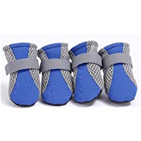 V-Do Summer Dog Splicing Boots Heat-Resistence Breathable Pet Paw Protectors For Cats Dog Booties Strap