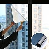 Spiegelfolie Fensterfolie,Anti-uv Sonnen schutzfolie,Pet Selbstklebend Hinfahrt Ablehnung der wärmeregulierung Ex-schutz Glas klar Balkon Küche Sun control sonnenschutzfolien-Blau 120x100cm(47x39inch)