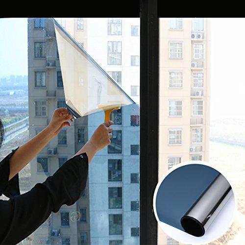 YQ WHJB Spiegelfolie Fensterfolie,Anti-uv Sonnen schutzfolie,Pet Selbstklebend Hinfahrt Ablehnung der Ex-Schutz Glas Balkon Küche Sun Control sonnenschutzfolien-Blau 100x100cm(39x39inch)