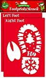 Staubbeutel von Zimmer–Rentier und Weihnachtsmann Fußabdruck Schablone inkl. Sparkle Glitter Glitzer Puder