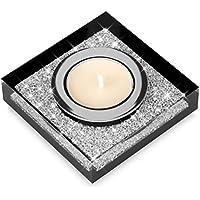 Elegante portacandele Lotus 1 con cristalli SWAROVSKI ELEMENTS – una