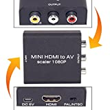 #3: Neon 1080p HDMI to AV Composite Video, Audio Converter Metal Box Adapter with USB Power Cable for Amzon Fire TV Stick, Any Cast Dongle, Chrome Cast Dongle, PC, Laptop, Play Station, Xbox