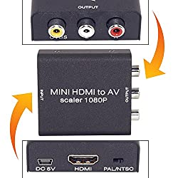 Mini HD Video Converter Box HDMI to RCA AV/CVSB L/R Video 1080P HDMI2AV Support NTSC PAL Output HDMI TO AV Adapter