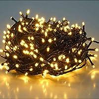 SALCAR 25.7m 360 Leds Cadena de Luces IP44 Impermeable, LED Luz Cadena Ligera Navidad, Led Cadena Luminosa con 8 Modos, Led Decoración Interior Exterior para Jardín Balcón Fiestas (Blanco cálido)