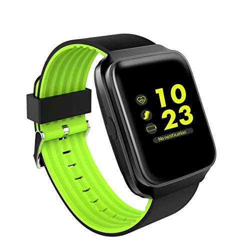 ZFNFN Bluetooth Smart Watch mit Kamera Touchscreen Smartwatch entsperrt Handy Uhr Smart Armbanduhr Sport Fitness Tracker für Android Handys IOS iPhone 7 7s Plus 6s, Green