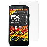atFolix Folie für Motorola Moto G (1. Generation 2013) Displayschutzfolie - 3 x FX-Antireflex-HD hochauflösende entspiegelnde Schutzfolie