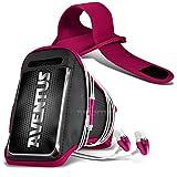 Aventus Cubot X11 (Hot Pink) Voll einstellbare Leicht Hulle Armband für Rennen, Gehen, Radfahren, Fitnessraum und andere Sportarten wie In-Ear-Ohrhörer Aluminium