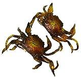 Evilandat suave de la pesca del cangrejo señuelos forma de doble gancho cebo Rigs Jigs Carp 2 PC