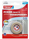 tesa Fixer Glasfigur transparent 'Transparent Objekt Fixer' 55743–00007–00 Klebeband 1,5 m x 19 mm transparent