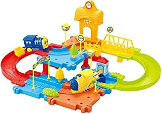 Webby Block Train Set, Multi Color, 30 Pieces