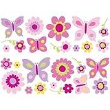 Fun4Walls Stickarounds Wandsticker Butterfly Garden