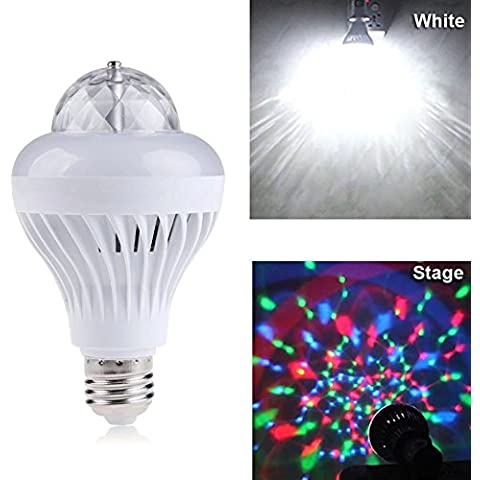 xinban effetto 2in 1–Lampadina Palla rotante da discoteca RGB Crystal Ball White & cambiacolore a LED GL ¨ ¹ hlampe F ¨ ¹ r partito Club Bar o Home Use