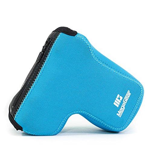 MegaGear Sony Alpha A6500 (16-70 mm objektiv) Ultraleichte Kameratasche aus Neopren mit Karabiner Haken blau