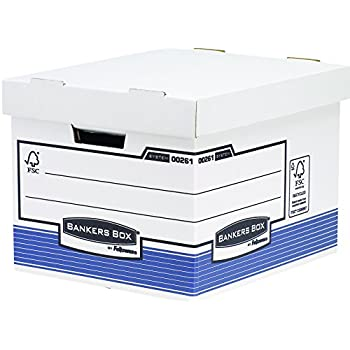Bankers Box 0026101 System Storage Box, Standard - Blue, Pack of 10