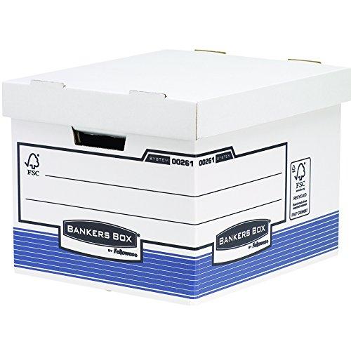 Bankers Box System Standard Archivbox (automatischem FastFold Aufbau) 10 Stück blau