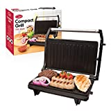 Quest 34340 Compact Twin Panini Press and Grill Floating Hinge, Stainless Steel, 750W