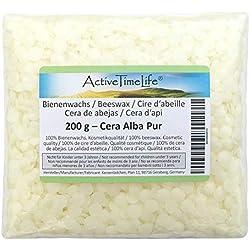 ActiveTimeLife 100% Pure Cire d'abeille Pastille Bio Blanc 200 g