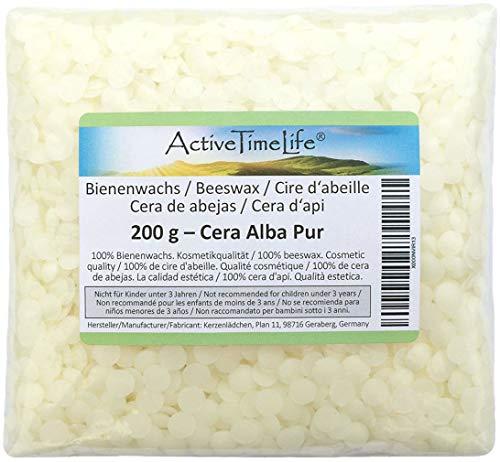 Bienenwachs Pastillen Bio, weiß, 200 g, für Kosmetik Kerzen Cremes Salben Seifen - Weiße Bio-seife