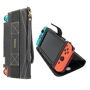 Nintendo Switch Schutzhülle , Abida Nintendo Switch Tasche, Nintendo Switch Hülle mit Bildschirmschutz und Standfunktion- Aufbewahrungstasche / – Hartschalen Case / Cover für Nintendo Konsole & Accesoires