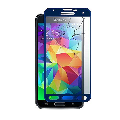MoArmouz® Super Tempered Glass Screen Protector for Samsung S5 - Scratch Resistant Screen Guard - Guaranteed Protection - Mobile Accessories / Screen Protectors / Mobiles & Tablets (Blue)