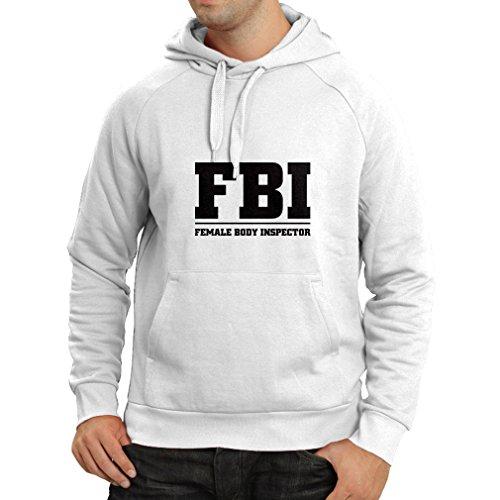 lepni.me Kapuzenpullover Weiblicher Körper-Inspektor Unisex T-Shirt (X-Large Weiß Schwarz)