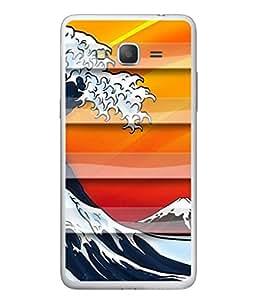 PrintVisa Designer Back Case Cover for Samsung Galaxy E5 (2015) :: Samsung Galaxy E5 Duos :: Samsung Galaxy E5 E500F E500H E500Hq E500M E500F/Ds E500H/Ds E500M/Ds (Lehar Sea Ocean Water Water)