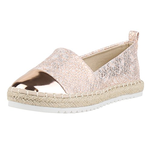 napoli-fashion , Espadrilles femme Rose Gold Snake