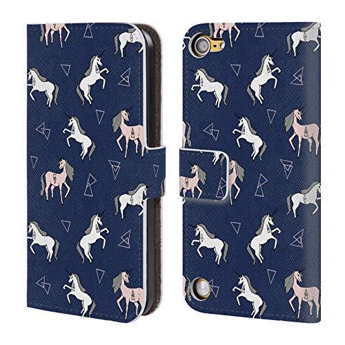 Ufficiale andrea lauren design unicorno assortiti cover in pelle a portafoglio compatibile con ipod touch 5g 5th gen