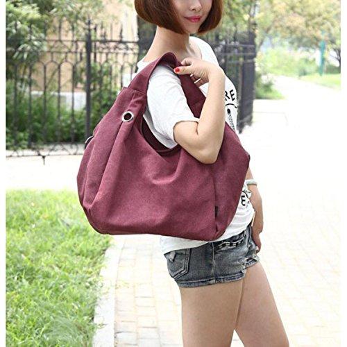 Retro Gezeiten Wind College Handtaschen Schulter Große Kapazität Tasche Freizeit Wild Mode Stofftaschen Personalisiert Bigbags Purple