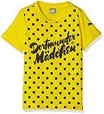 PUMA Kinder T-shirt BVB Slogan Tee, cyber yellow-black, 164, 750138 01