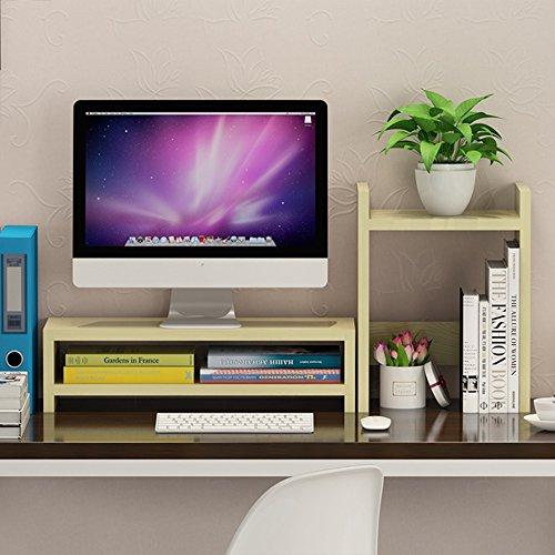 Unbekannt Support Laptop Monitor Stand Up Frame, Desktop Regale Regal Aus Holz-2 Schichten (Farbe : Double Layer-3#)