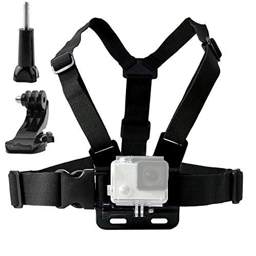 TEKCAM Support Harnais Torse Réglable Pour Caméra d'action Monture Compatible avec Gopro Hero 7 6 AKASO Apeman Victure Campark Accessoires Caméra d'extérieur