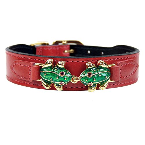 hartman-e-rose-leap-frog-collection-dog-collar-ferrari-rosso-14-406cm