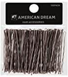 American Dream Wavy Bobby Pins, Brown 2.5-inch/ 6.35 cm - Pack of 100