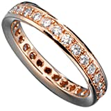 JOBO Memory-Ring 585 Gold Rotgold mit Diamant-Brillanten 0,75ct. Größe 54