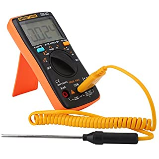 Akozon Handheld Digital Multimeter,ANENG AN8009 9999 Counts Digital Multimeter -True RMS -AC/DC Voltage Electronic Meter-Continuity,Frequency, Tests Diodes,Transistors,Temperature Tester-LCD Display