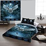 AWAKEN YOUR MAGIC Duvet & Pillows Case Covers Set for Double/Twin Bed Artwork By Anne Stokes by Wild Star@Home