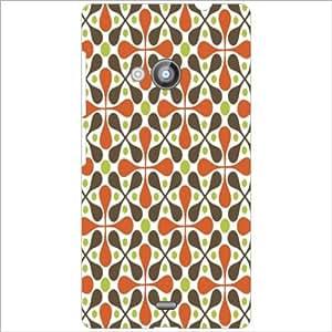 Nokia Lumia 535 Back Cover - Cross Pattern Designer Cases