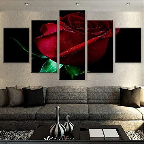 Malerei,Wulian HD Raumkunst Malerei Wandmalerei Tusche Malerei Blumen Nacht Gemälde nach Hause 5 Malerei Kern 20x35cmx2 20x45cmx2 20x55cmx1 ()