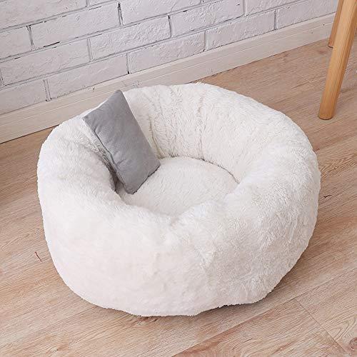 Segle Weiche Haustier-Schlafmatte für kleine Hunde und Katzen, waschbar, tiefes Futter, selbstwärmendes Katzenbett und Hundebett, runde Donut-Nisthöhle -