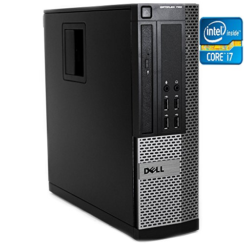 Dell Optiplex 790 Desktop PC, Intel Core i7 3.40GHz, 8GB Memory, 500GB HD, DVD-ROM with Windows 7 Professional (Dell 7 Desktop 8gb Windows)
