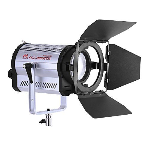 Andoer CLL-1600TDX 160W Dual-Colore 3000K-8000K Photo Studio LED Riflettore Light Fotografica Photography Video Studio con Barn Door CRI95 + DMX 512 Sistema