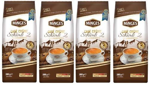 Minges Schweizer Schümli II Kaffee Bohnen 4 x 1kg