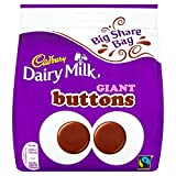 Cadbury Dairy Milk Giant Buttons, 252 g, Pack of 10