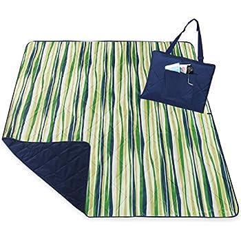 Camping Blanket Picnic Blanket Beach Blanket Sheet Pocket by YALUYA , Beach Picnic Blanket Mat ,Waterproof and Sandproof Backing